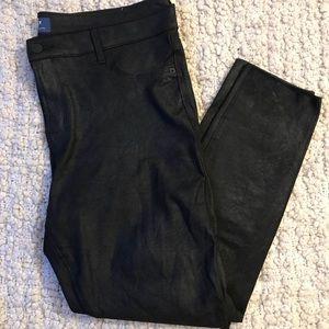 Old Navy Rockstar Black Metallic Pants 16 regular